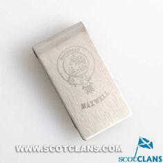 Maxwell Clan Crest Engraved Money Clip: