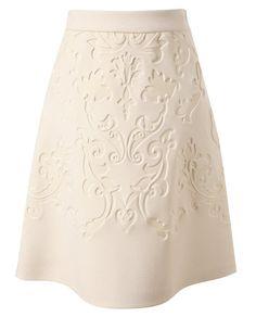STELLA MCCARTNEY  Baroque embossed neoprene skirt