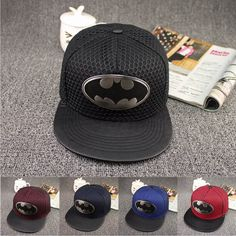 Autumn brand leather brim sun truck hat iron Batman hiphop baseball cap mesh cap visor casual bone snapback gorras for women men(China (Mainland))