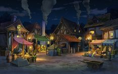 Labyrinthia Marketplace, Night from Professor Layton vs. Phoenix Wright: Ace Attorney