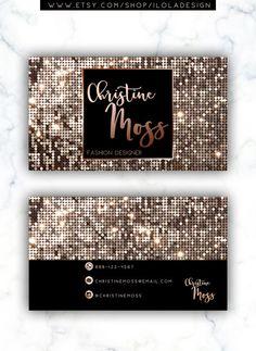 Floral rose gold glitter makeup artist hair salon business card etiquette tips on business cards colourmoves