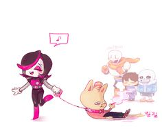 20160228 Undertale Mettaton, Burgerpants, Papyrus, Sans and Frisk