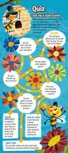 "Here's a fun, printable flow quiz for kids asking ""Are You a Team Player?"" It's one of the activities in the Fall issue of Compassion's magazine for children."