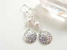 Hey, I found this really awesome Etsy listing at https://www.etsy.com/listing/200605647/silver-sand-dollar-earrings-beach