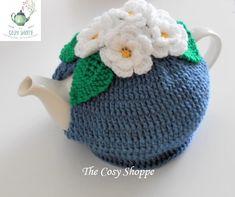 Cosy, Tea Pots, I Shop, Crochet Hats, How To Make, Handmade, Blue, Knitting Hats, Hand Made