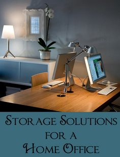 More and more people are starting to work from home. Whether you work from home full time, do a few hours of work after you get home, or just pay household bills from your home office, you will most likely need some sort of storage. He...