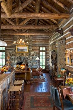 Gorgeous log cabin in Montana!  Gordon Gregory Photography