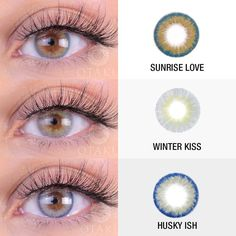 2 or Which eye color catches your attention? Gorgeous eyes by 💕 Go check our website for what colors are on sale today! 🌈 🎀To shop link is in our bio🎀 Eye Lens Colour, Color Lenses, Eye Color, Natural Color Contacts, Colored Contacts, Eye Contacts, Eye Contact Lenses, Lenses Eye, Galaxy Eyes
