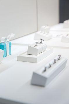 huge Tiffany & Co. engagement rings, engagement ring case, Tiffany blue box http://itgirlweddings.com/tiffany-co-event/