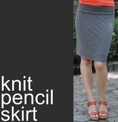 sew: Knit Pencil Skirt Tutorial || Crafterhours
