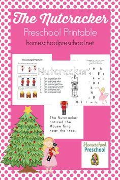Kick off your holiday season with this free Nutcracker preschool printable!