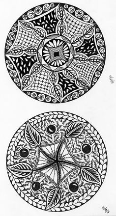 My first try at the round zen doodles