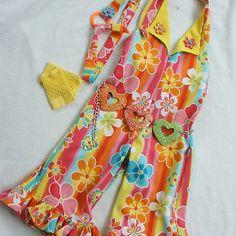 Flower power pageant wear