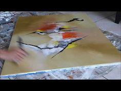 Abstract Painting Techniques - Démonstration peinture abstraite (9) Althea - YouTube
