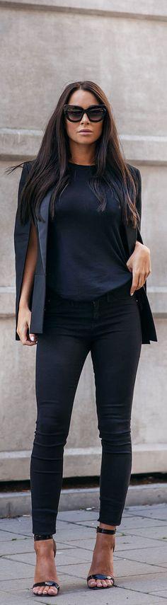 Black Cape / Fashion By Johanna Olsson