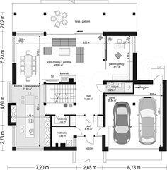 House Layout Plans, House Layouts, House Floor Plans, Villa Design, House Design, Concrete Houses, Dream Home Design, Planer, My House