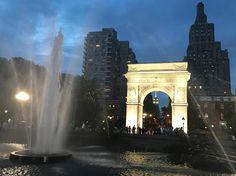 Oh I love this city. #washingtonsquarepark #empirestatebuilding #manhattan #newyork #nyc #summernights #august #thisisaugust #nyu #iheartny #nycviews