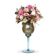 Arranjo de Flores Artificiais Mistas na Taça - Felicitadecor