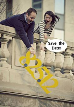 "Love this fun ""Save the Date"" photo!"