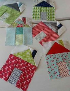Miss Rosie's Village quilt house blocks made by Pat Sloan