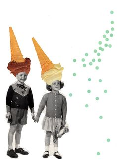 Coneheads  Collage Print by OctopusPieStudios on Etsy, $15.00