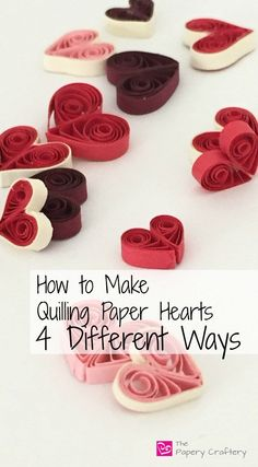 How to Make Quilling Paper Hearts : 4 Different Ways! - The Papery CrafteryLearn to simple steps on how to make quilling paper swirls, the easiest way to add loads of dynamic elegance to your quilling paper crafts!Quilling and Other Fun Paper Things Neli Quilling, Quilling Jewelry, Paper Quilling Cards, Paper Quilling Flowers, Paper Quilling Patterns, Origami And Quilling, Quilling Craft, Quilled Roses, Quilling Comb