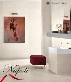 Relax in a simple bathroom with Napoli tiles