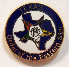 TEXAS Eastern Star Lapel Pin Eastern Star Jewelry Pins Texas