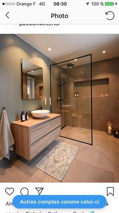 Ideas Bathroom Remodel Shower Design Toilets For 2019 Bathroom Design Luxury, Modern Bathroom Design, Modern House Design, Washroom Design, Modern Bathroom Cabinets, Bathroom Design Layout, Minimal Bathroom, Contemporary Bathrooms, Home Room Design