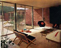 Fireplace idea - 60s interior