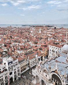 "Venice - Italy Travel ""From above ☁️ Venice Travel, Italy Travel, Destinations, Week End, Europe, Venice Italy, Paris Skyline, Photos, Journey"