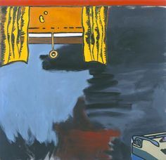 From Gagosian, Dexter Dalwood, Hunter S. Thompson Oil on Canvas, 58 × 59 in Dexter Dalwood, Hunter S Thompson, Gagosian Gallery, Painting & Drawing, Printmaking, Landscape Paintings, Illustrators, Oil On Canvas, Artsy