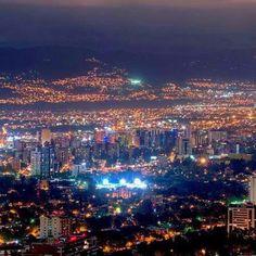Guatemala City at night.