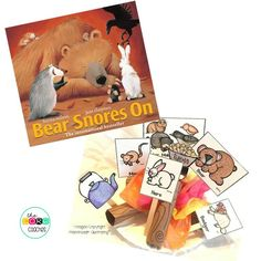 """Students make stick puppets to practice retelling key ideas and details for """"Bear Snores On"""" by Karma Wilson."""