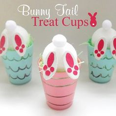 Adorable and Easy Easter Idea for the kids! Bunny Tail Treat Cups crafts for adults Easter Craft: Bunny Tail Treat Cups Hoppy Easter, Easter Bunny, Easter Eggs, Cup Crafts, Bunny Crafts, Easter Projects, Easter Crafts For Kids, Spring Desserts, Diy Ostern