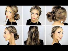 5 Easy Heatless Hairstyles for Work & School ♡ Danielle Mansutti - YouTube