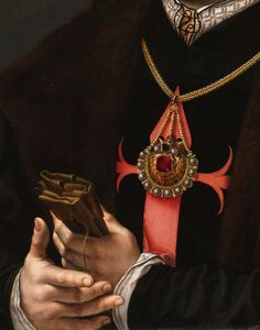 Jan Gossaert. Detail from Portrait of Francisco de los Cobos y Molina, 1532.