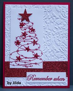 "Texana Designs card sample by DTM Jilda Bolton using our Texana Designs Jam'n BW Tree and ""Remember when"" stamps."