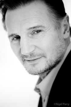 Liam Neeson-Ohhhhh! He always emits this warmth, I don't know what it is...I love his voice. So individual and it adds to his warmth.