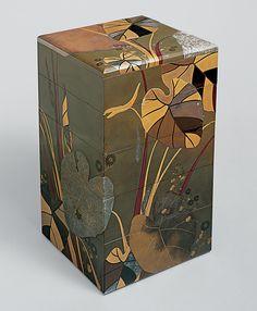 Shibata Zeshin (Japanese, 1807–1891). Stacked Food Box (Jūbako) with Taro Plants…