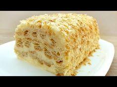 Υπέροχο επιδόρπιο, μπορείτε να το κάνετε σε λίγα λεπτά! Κέικ ζαχαροπλαστικής #077 - YouTube Kinds Of Desserts, Fun Desserts, Delicious Desserts, Puff Pastry Desserts, Puff Pastry Recipes, Pastry Cake, Best Dessert Recipes, Cake Recipes, Bolo Tiramisu