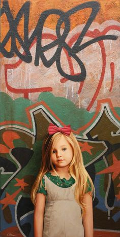 """Graffiti Girls"" series by American artist Kevin Peterson."