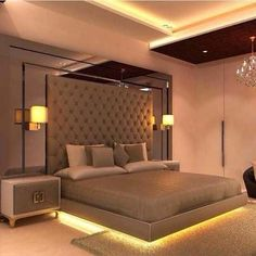 Shiny bedroom designs india Images, perfect modern bedroom designs case study showing contemporary or 71 design ideas Bedroom False Ceiling Design, Room Design Bedroom, Bedroom Furniture Design, Home Room Design, Small Room Bedroom, Home Bedroom, Bedroom Decor, Bedroom Lamps, Bedroom Wall