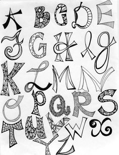 hand lettered alphabets | hand lettering | Artistically Afflicted
