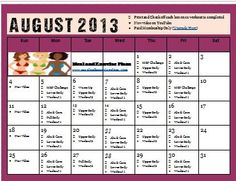 AUGUST Workout Calendar! Sign Up for Newsletter to get Password! « Decembers Fitness Meal and Exercise Plans Workout Calendar, Fitness Calendar, Ecommerce Hosting, Exercise Plans, Health Fitness, How To Plan, Blog, Motivational, Meal