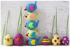 Artesanato com lã – Passarinhos decorados - Vale o Clique!