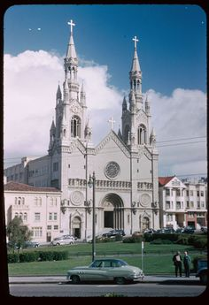 St. Peter & Paul's Church seen from Union & Columbus Ave., San Francisco (1952) Indiana University Archives, Charles W. Cushman Photograph Collection