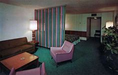 "LITTLE AMERICA MOTEL, Salt Lake City UT inspiration for ""pipe and drape"" style room divider"