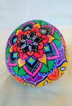 Mandala Energy Stone TRIBAL FLOWER by MandalaEnergyStones