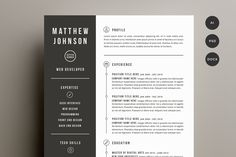 Resume & Cover Letter Template by Refinery Resume Co. on @creativemarket